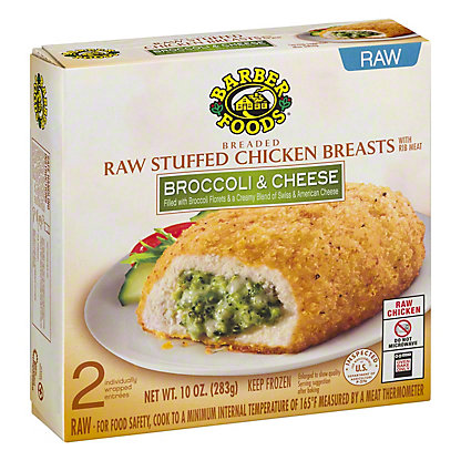 Barber Foods Breaded Raw Broccoli and Cheese Stuffed Chicken Breasts, 2 ct