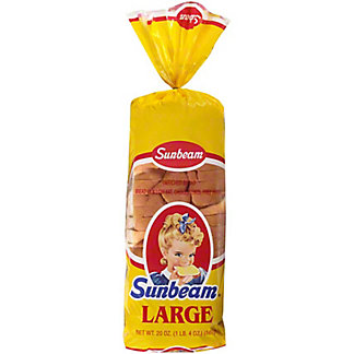 Sunbeam Large Enriched White Bread,20.00 oz