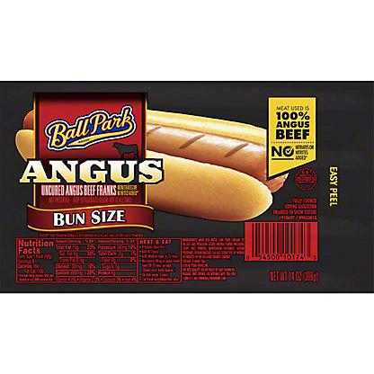 Ball Park Bun Size Angus Beef Franks, 8 ct