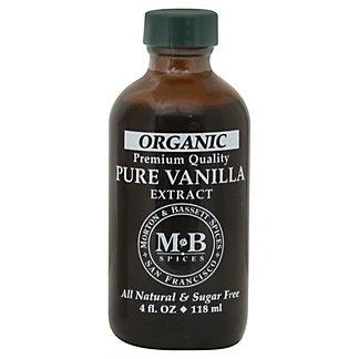Morton & Bassett Organic Pure Vanilla Extract,4.00 oz