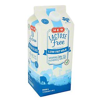 H-E-B Select Ingredients Lactose Free 1% Low Fat Milk,1/2 GAL