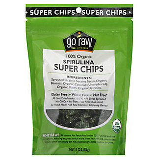 Go Raw Spirulina Super Chips, 3 oz