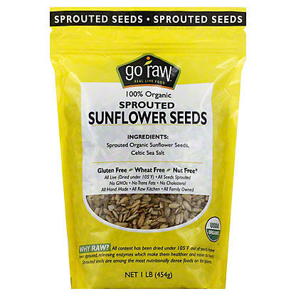 Go Raw Organic Sprouted Sunflower Seeds, 16 oz