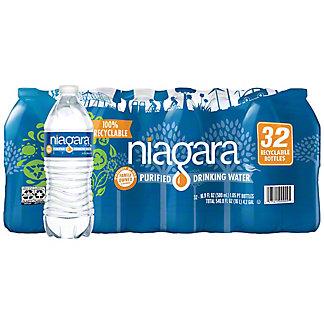 Niagara Purified Drinking Water 16.9 oz Bottles, 32 pk