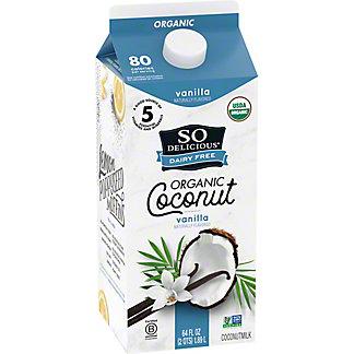 So Delicious Dairy Free Organic Vanilla Coconut Milk Beverage, 1/2 gal