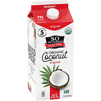 So Delicious Dairy Free Original Coconut Milk Beverage, 1/2 gal