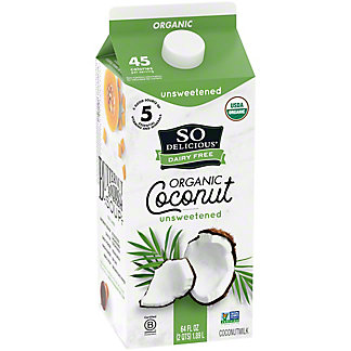 So Delicious Dairy Free Unsweetened Coconut Milk Beverage, 1/2 gal