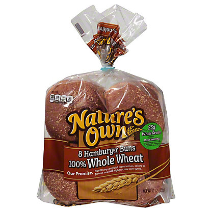 Nature's Own 100% Whole Wheat Sandwich Rolls,8 CT