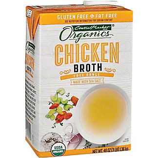 Central Market Organics Free Range Chicken Broth, 48 oz