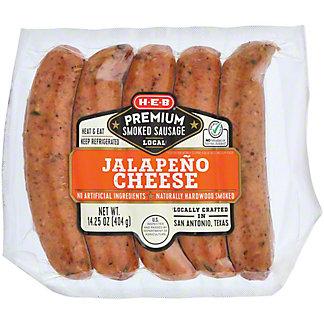 H-E-B Premium Jalapeno Cheddar Smoked Sausage