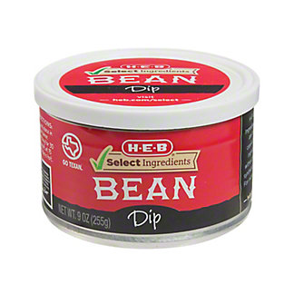 H-E-B Select Ingredients Bean Dip,9 OZ