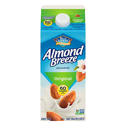 Blue Diamond Almond Breeze Original Almondmilk, 1/2 gal