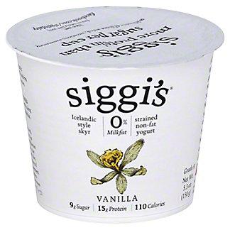Siggi's Strained Non-Fat Icelandic Style Skyr Vanilla Yogurt, 5.3 oz