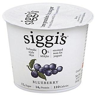 Siggi's Strained Non-Fat Icelandic Style Skyr Blueberry Yogurt, 5.3 oz