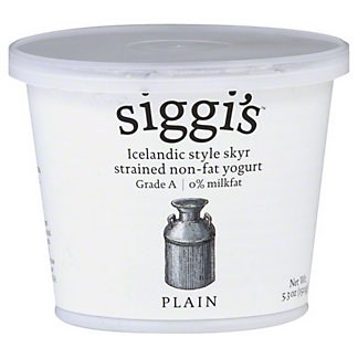 Siggi's Strained Non-Fat Plain Yogurt,5.3 oz