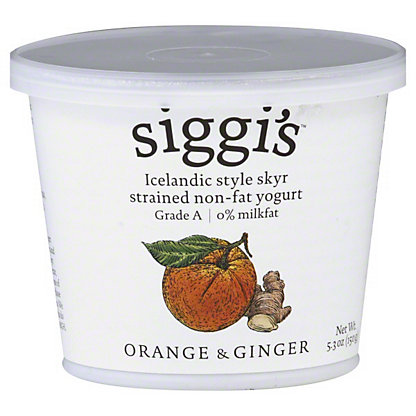 Siggi's Strained Non-Fat Icelandic Style Skyr Orange and Ginger Yogurt,5.3 OZ
