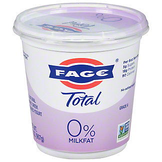 Fage Total 0% Plain Greek Strained Nonfat Yogurt, 35.3 oz