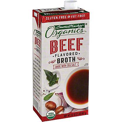 Central Market Organics Fat Free Beef Broth, 32 oz