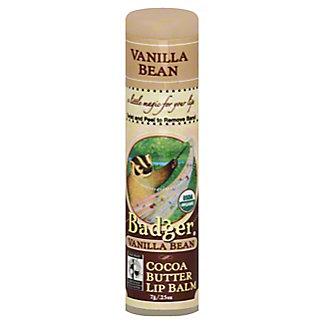 Badger Vanilla Bean Cocoa Butter Lip Balm,.25 OZ