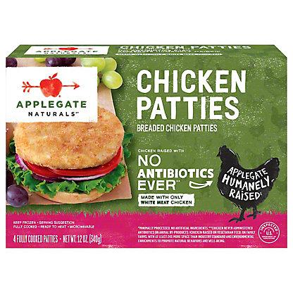 Applegate Naturals Chicken Patties,4 CT