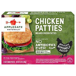 Applegate Naturals Chicken Patties,4 CT