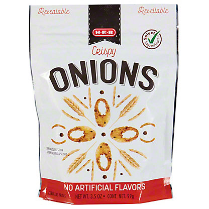 H-E-B Select Ingredients Restaurant Style Crispy Onions, 3.50 oz