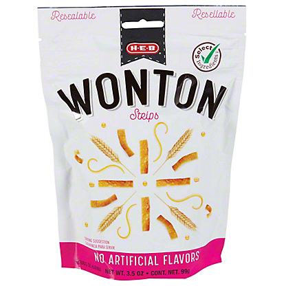 H-E-B Wonton Strips, 3.50 oz
