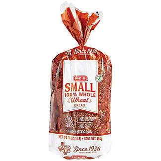 H-E-B Bake Shop 100% Whole Wheat Round Top Bread,16 OZ