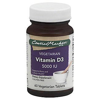 Central Market Vitamin D3 5000 IU Vegetarian Tablets,60 CT