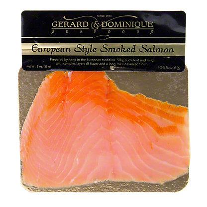 Gerard & Dominique Seafoods European Style Smoked Salmon,3 OZ