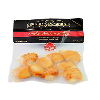 Gerard & Dominique Seafoods Smoked Alaskan Scallops, 4 OZ