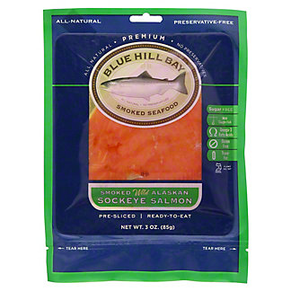 Blue Hill Bay Smoked Wild Alaskan Sockeye Salmon, 3 OZ