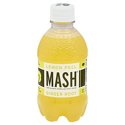 MASH Lemon Peel Ginger Root Sparkling Beverage, 20 oz
