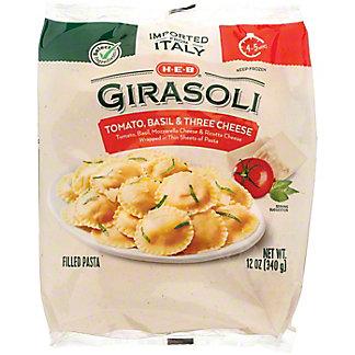 H-E-B Select Ingredients Tomato Basil & Three Cheese Girasoli, 12 oz