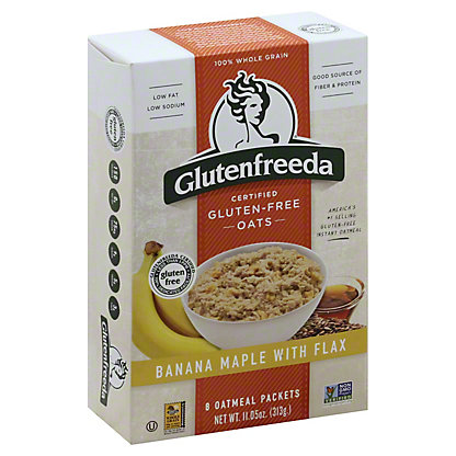 Glutenfreeda's Instant Oatmeal Banana Maple with Flax,10.5OZ