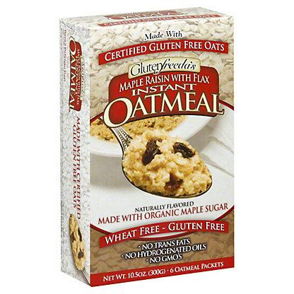 Glutenfreeda Maple Raisin With Flax Instant Oatmeal,10.5 OZ