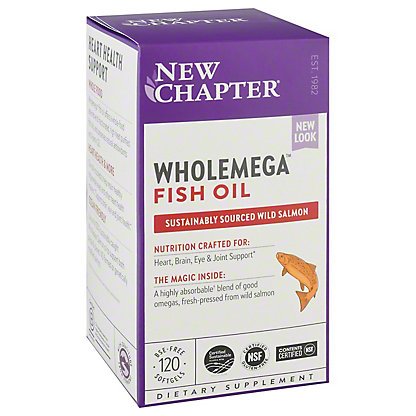 New Chapter Wholemega Whole Fish Oil 1,000 mg Softgels,120 CT