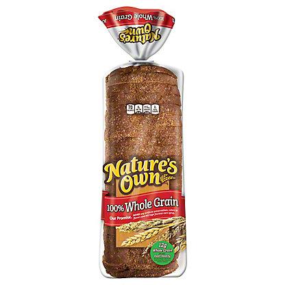 Nature's Own 100% Whole Grain Bread, 20 oz