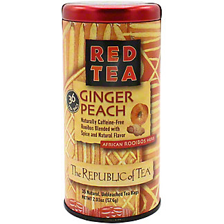 The Republic of Tea Ginger Peach Red Teabags, 36 ct