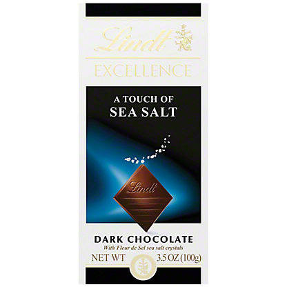 Lindt Excellence A Touch Of Sea Salt Dark Chocolate Bar, 3.5 oz