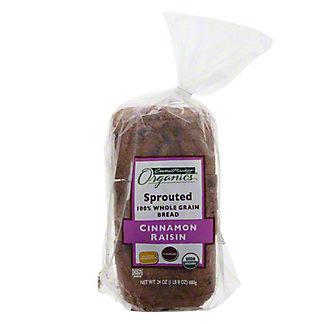 Central Market Organics Sprouted Cinnamon Raisin Bread,24.00 oz