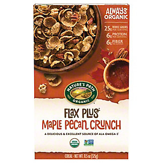 Nature's Path Organic Flax Plus Maple Pecan Crunch Cereal, 11.5 oz