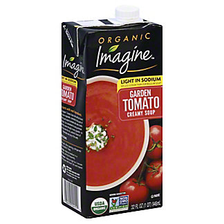 Imagine Organic Light Sodium Creamy Garden Tomato Soup, 32FLOZ