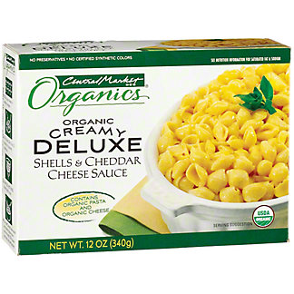 Central Market Organics Creamy Deluxe Shells and Cheddar Cheese Sauce, 12 oz