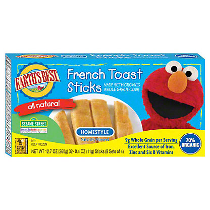 Earth's Best All Natural Homestyle French Toast Sticks,12.7 oz