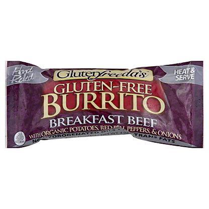 Glutenfreeda's Vegetarian Beef Potato Breakfast Burrito, 4.00 oz