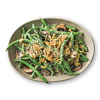 Green Bean Casserole with Porcini Mushrooms and Gruyère Topping, Serves 6-8