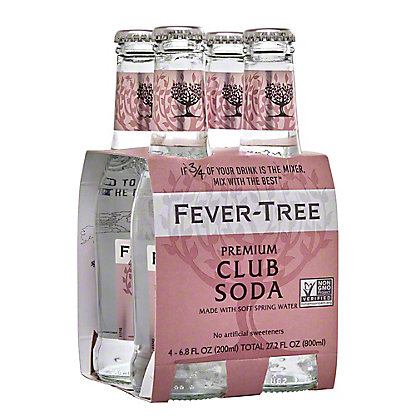 Fever Tree Spring Club Soda,4 PK