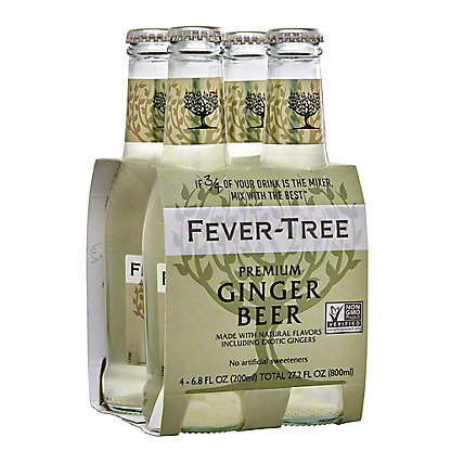 Fever Tree Premium Ginger Beer 6.8 oz Bottles, 4 pk
