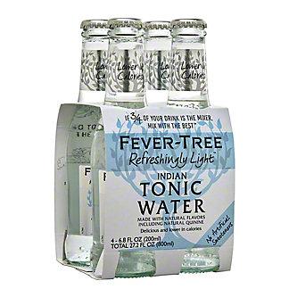 Fever Tree Naturally Light Indian Tonic Water,4 - 6.8 fl oz (200 ml) bottles [27.2 fl oz (800 ml)]